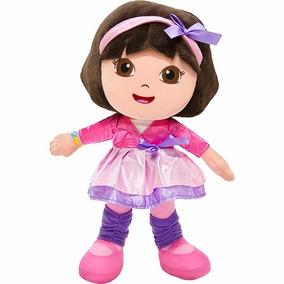 Boneca Pelúcia Dora Aventureira Bailarina Nickelodeon Na Cx