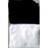 Toalla De Mano 100% Algodón 43x27cm Blanco O Negro