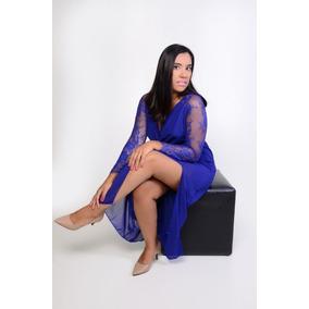 Vestido Longo Azul Formatura Madrinha Casamento Formal
