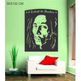 Adesivo Papel Parede Bob Marley Reggae Jamaica Pronta Entreg