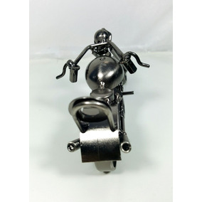 Motocicleta Decorativa De Chatarra Metalica Excelente Regalo