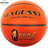 Bola De Basquete Magussy Pro 6 De Couro