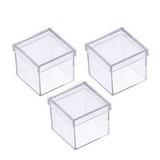 100 Caixinha De Acrílico Quadrada 4,5 X 2,5 Melhor Preço