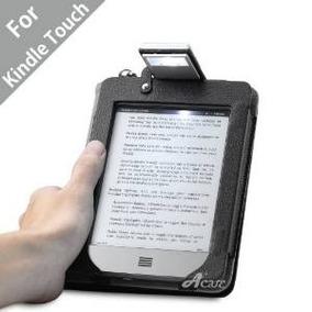 Cuero Acaso (tm) Con Luz Kindle Touch Folio Case (negro)