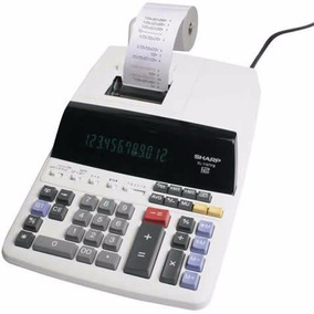 Kit Com 2 Calculadora Sharp De Mesa C/ Bobina El-1197 110v