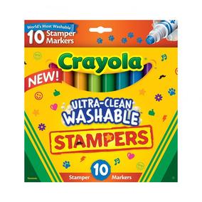 Crayola Stampers Canetinha Carimbo Lavavel Caixa 10 Markers