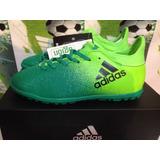 Tenis adidas Turf X 16.3 D Niño 100%originales Botita Verde