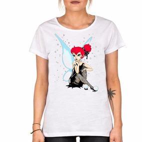 Remera Campanita Tattoo Ginger Hada Pin Up Fairy Rocker Alas