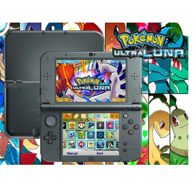 New 3ds Xl Negro Pokemon Ultra Sol Y Luna + 32 Juegos 32gb