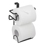 Suporte Porta Papel Higiênico Duplo Caixa De Descarga Acoplada Aço Preto Banheiro Lavado Encaixar Encaixe C/ Nota Fiscal