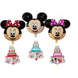 Globo Metalizado Minnie Mickey Torta Cumpleanos Disney Raton