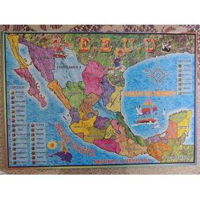Mapa De La República Mexicana En Rompecabezas De Madera