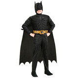 Fantasia Infantil Batman C/músculo Luxo - Pronta Entrega 12x
