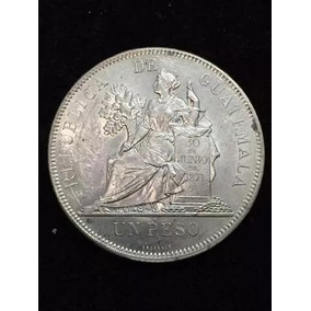 Moneda Guatemala Un Peso Fecha 1894 Plata Envió Gratis