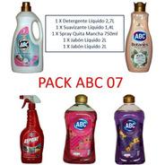 Pack Lavado Detergente Liquido Abc+ Suavizante+ Jabón+ Quita