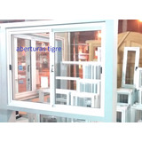 Ventana Aluminio Blanco 150 X 110 Cm Vidrio Entero