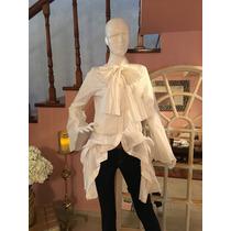 Blusa O Camisa Blanca Con Olanes