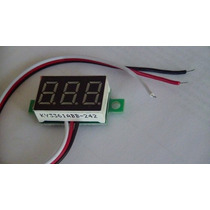 Mini Voltímetro Digital Bateria Vermelho Remote Menor Frete