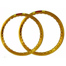 Par Aro Moto Alumínio Cor Dourado Titan150 18x215+18x215