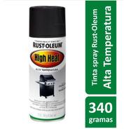 Spray Preto P/ Churrasqueira, Lareira Semi-brilho Rust Oleum