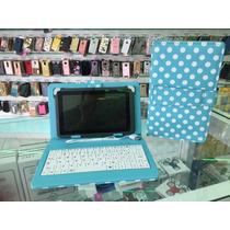 Capa Teclado Verde/branco Tablet Asus Lenoxx 7 Pol V8 Usb