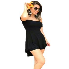 Conjunto Mullet Blusa Ciganinha + Shorts Moda Feminina Verão
