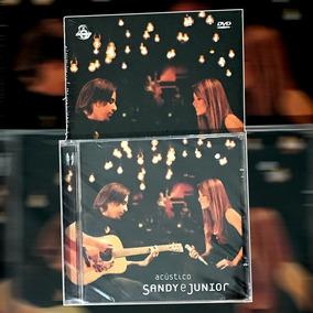 Raro Cd + Dvd Sandy E Junior Acústico Mtv - Novo - Frete 0 *