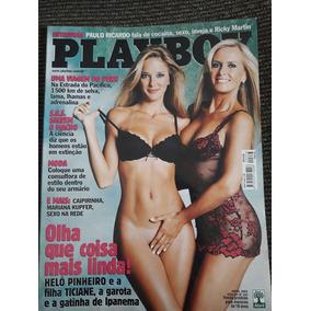 Revista Playboy Abril 2003 Helô Pinheiro E Ticiane Pinheiro