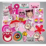 Rosas Kawaii 50 Calcomanias Stickers Pvc Contra Agua E Grat