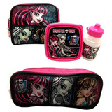 Kit Monster High 16z Sestini : Lancheira E Estojo Triplo