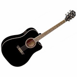 Guitarra Electroacustica Washburn Wa90ceb Negra Afinador Eq