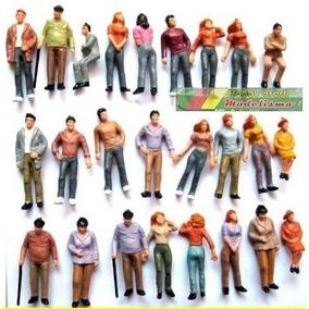 50x Figuras Humanas Escala 1:50 Plástico Maquete Sortidos