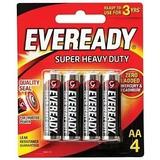 4 Pilas Aa Eveready Super Heavy Duty - Bateria