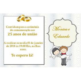 Convites De Bodas De Prata Personalizados Convites No Mercado