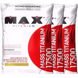 Combo 3 Massa 17500 Hipercaloric 3kg ( 9kg ) Max Titanium