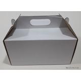 25 Cajas Manija Corrugado P/ Torta O Rotiseria 22x19x11
