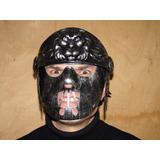 O Iluminado Mascara Capacete Skull Airsoft Paintball Moto