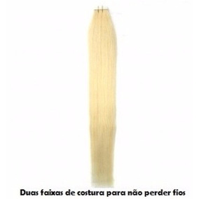 2 Mega Hair Fitas - 8a - 50gr - 20 Peças - 50cm + Fita Azul