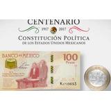 Billetes $100 Conmemorativo Centenario Constitucion 1917