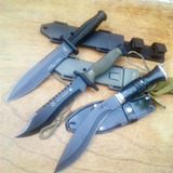 Pack De Tres Cuchillos Tácticos Y De Supervivencia Top Nuevo
