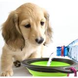 Bebedero Comedero Plegable Portátil Perros Gatos Mascotas
