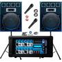 2 Bafles 15 600w + Consola Moon Usb Mp3 Bluetooth + 2mic Cjf