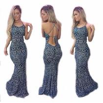 Vestido Sereia Longo Panicat Juju Salimeni! Promoção