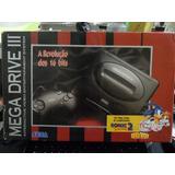 Mega Drive 3 Caixa E Isopor Controle Original Sega