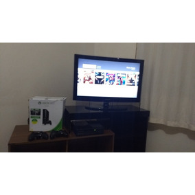 Xbox 360 Super Slim 500gb 2 Controles + Headset + Jogos N Hd