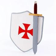 Espada + Escudo Grande  Caballero Templario Juguete Madera