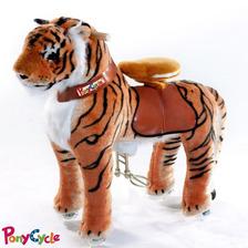 Hermoso Tigre  Montable Con Ruedas Para Niños