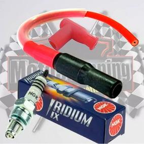 Kit Competicao Titan/fan150 Vela Iridium + Cabo Ibooster