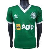 Camisa Retrô Palmeiras 1987 Verde Agip New