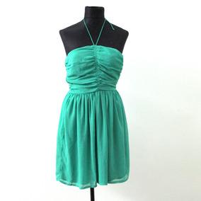 Vestido Verde Elegante Strapples Trafaluc - Envios